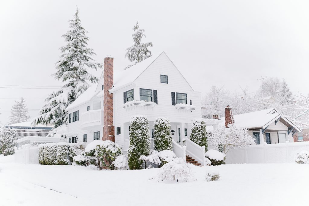 house covered with snow